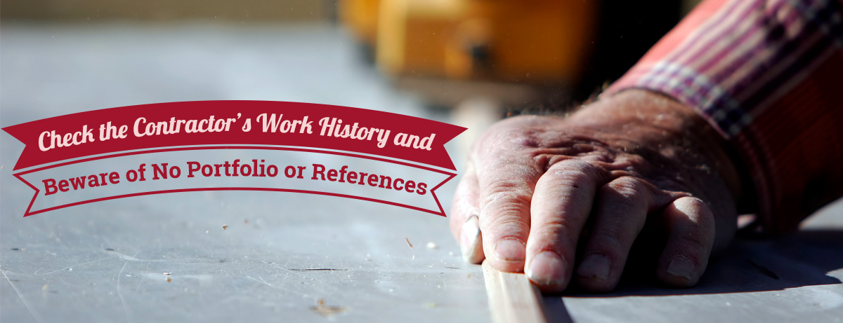 Check the Contractor's Work History